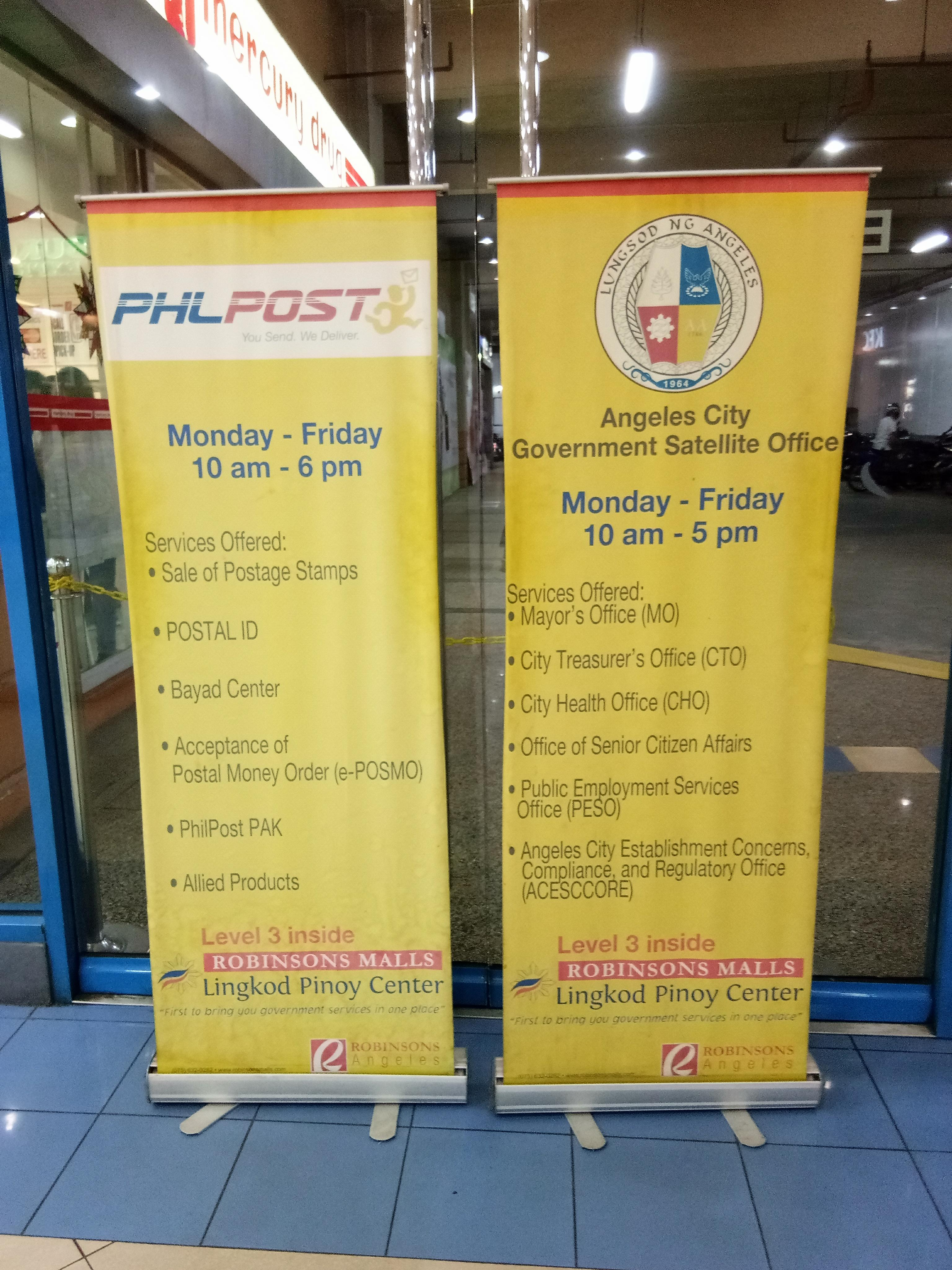 PHLPOST and Angeles City Government Satellite Office