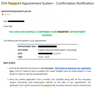 DFA Passport Angeles City - Appointment Code